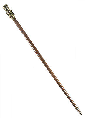 "Nautical Walking Stick 38"" Spyglass Telescope Wood Gentleman Hiking Cane New"