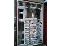 Large 94 piece Cutlery set with carry case.