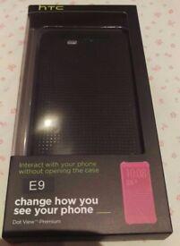 E9 HTC Dot view case Brand New