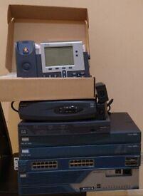 Cisco 2651XM, 2621XM FXO FXS, 1700, 887VA, 3825 Router & 3550 PoE Switch & 7940G