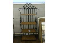 Wicker Shelves Wrought Iron Frame