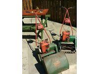 petrol lawnmower with grassbox