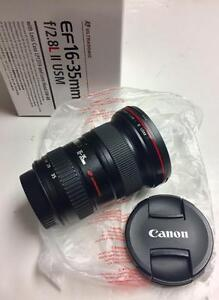 Canon EF 16-35mm f2.8L USM II full frame lens in box without lens hood with 90 days warranty