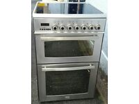 delonghi 60cm double oven halogen electric cooker