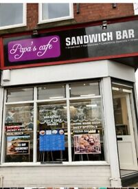 Nice and very busy sandwich bar for quick sale -Only £ 12500