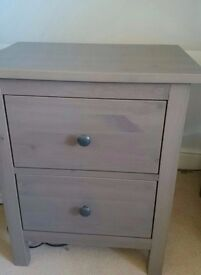 Solid Wood bedside table with drawers X2