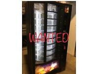 WANTED vending machine