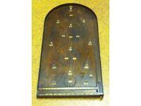 Vintage bagatelle game. Good vintage condition. Seven original metal balls. ollection only