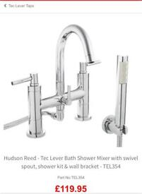 Bath mixer and 2 sets of basin taps . Brand Hudson Reed .