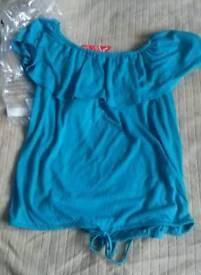 Ladies blue top size 12