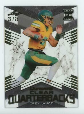 2021 Leaf Ultimate Clear Quarterbacks Gold Trey Lance 22/25 RC Rookie