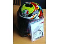 AGV K-3 K3 SV Elements Valentino Rossi Motorcycle Helmet w/ Pinlock - Small *As New*