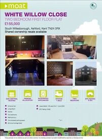 2 Bed Flat for sale in Ashford close to train station & designer outlet - Shared Ownership Scheme