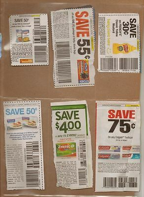 25 6 POCKET COUPON SLEEVE PAGES STORAGE ORGANIZE