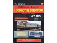 RAILWAY BOOK. THE COMPLETE BR DIESEL AND ELECTRIC LOCOMOTIVE DIRECTORY BY COLIN J MARSDEN FOR SALE