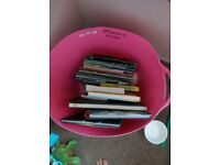 Trug of books for carboot