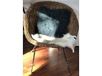 Wicker Chair / Natural Rattan