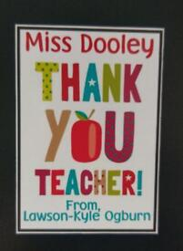 Thank You teacher personalised fridge magnet