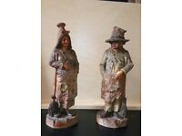 Pair of Continental Pottery Figures