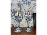 Beautiful personalised wine glass