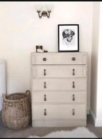 Chest of drawers shabby chic vintage