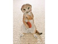 Countryside Artists 03103 Hand Painted Hand Crafted Meerkat Baby Sitting Ornament Animal Figurine