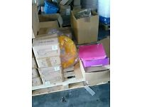 mixed pallet of goods shoes hi viz sockets handles loads more