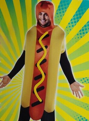 Adult Mens Womens Funny Baseball Hot Dog Weiner Bun Halloween Costume S M L NEW - Mens Baseball Halloween Costumes