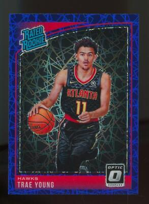 2018 Panini Donruss Optic Blue Velocity #198 Trae Young RC Rookie