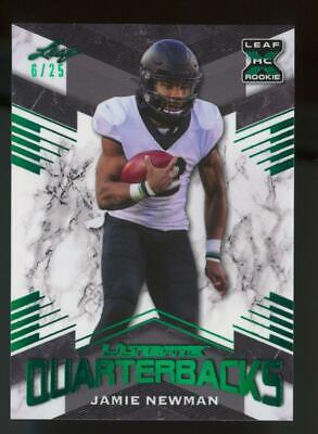 2021 Leaf XRC Ultimate Quarterbacks Green Jamie Newman 6/25 RC Rookie
