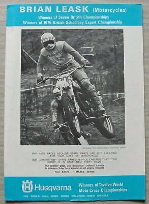 YAMAHA & HUSQVARNA MOTORCYCLE PARTS ACCESSORIES Brian Leask Sales Brochure c1976