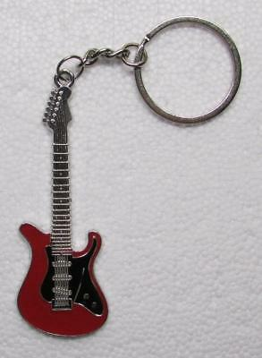 SO CAL Style Red/Black GUITAR Metal Alloy KEY CHAIN Ring Keychain NEW