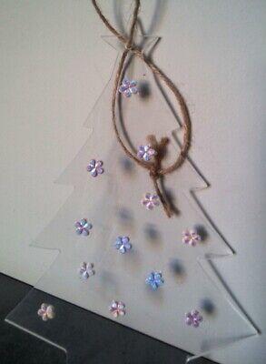 DECORAZIONE di NATALE Albero in plexiglass con fiori Addobbo natalizio casa home