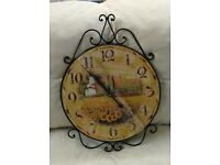 Wall Clock Country Scene Countryside Rural Scenic