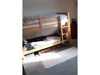 Bunk bed + mattress