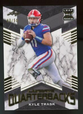 2021 Leaf XRC Ultimate Quarterbacks Gold Kyle Trask 43/50 RC Rookie