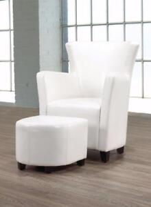 WHITE ACCENT CHAIR ON BOXONG DAY SALE (BF-175)
