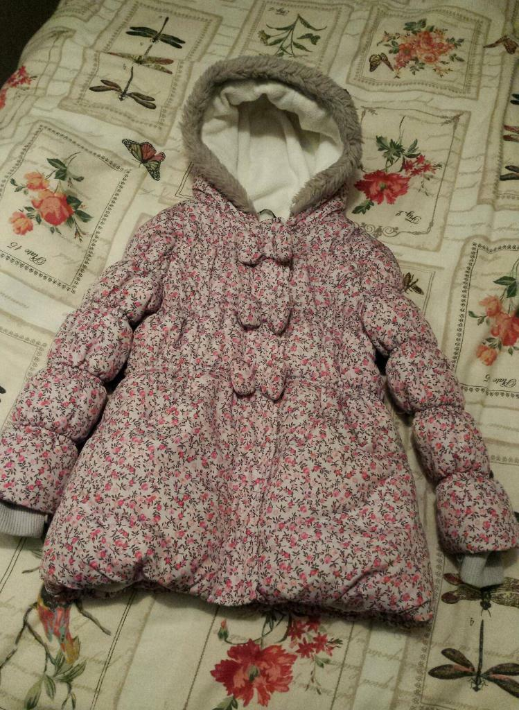 Girls padded winter coat age 5-6