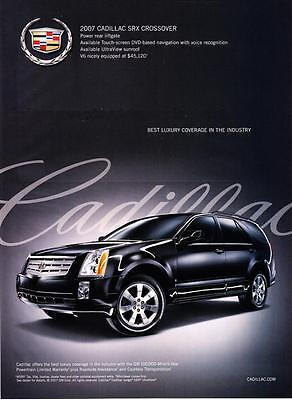2007 Cadillac Srx Crossover Photo  Best Luxury Coverage  Promo Print Ad