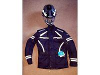 Bike jacket & helmet