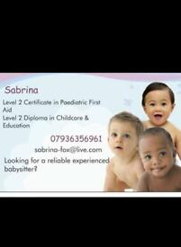 Experienced, Qualified Babysitter Available in the North London Area Babysitting/Childcare