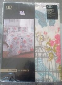 SINGLE DUVET COVER. BRAND NEW. BIRDCAGE/BIRD PRINT. £7