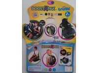 Trendy kids car booster seat - Turns into a backpack! (One pink one green)