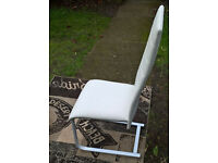 1 x Ex-display Apollo White Leather Dining Chair