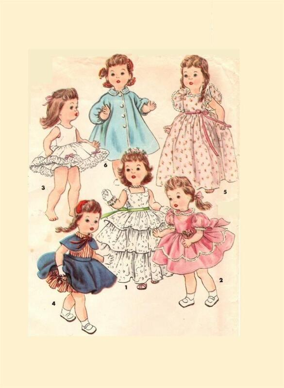 Doll Clothing PATTERN 4908 for 14 in Bonny Braids n Saucy Walker by Ideal