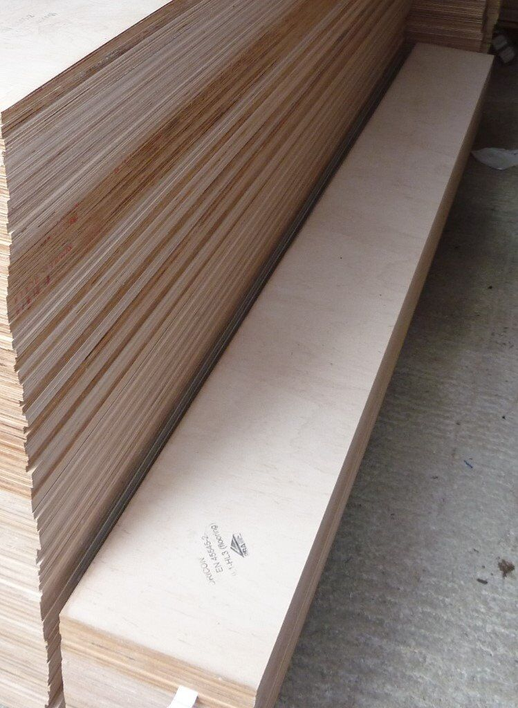 10 Pieces Of NEW 12mm B/BB Grade Birch Plywood 8ft X 10.5in (
