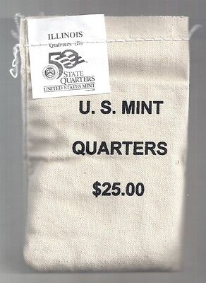 Click now to see the BUY IT NOW Price! 2003 D ILLINOIS  STATE QUARTERS MINT SEWN BAG