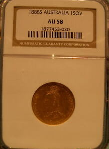 Australia 1888S Gold Sovereign NGC AU-58
