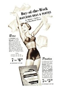 13899-Postcard-Day-of-the-Week-Matching-Bras-and-Panties-Ladies-Underwear