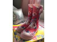 Joules wellies girls size 2